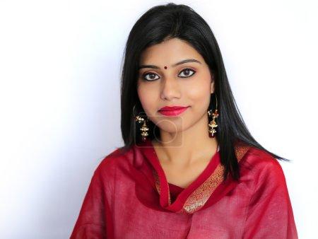 Beautiful Indian girl in traditional Indian salwar shuit.