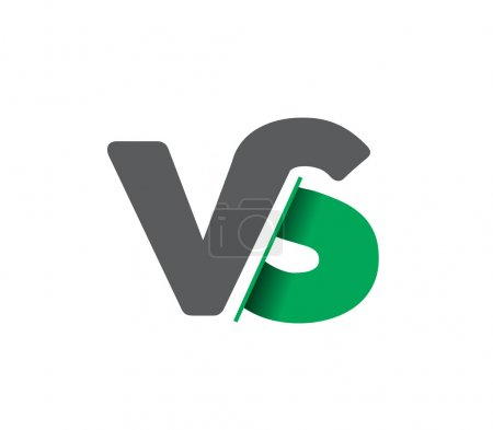 VS company linked letter logo