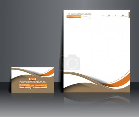 Illustration for Set of Business Corporate Identity Template. - Royalty Free Image