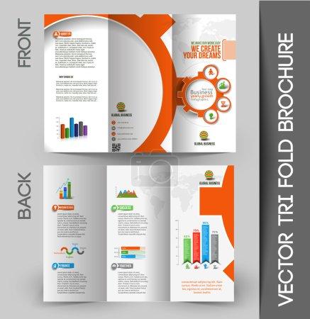 Business Infographic Tri-fold Brochure Design