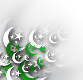 Moon with Pakistan's Flag