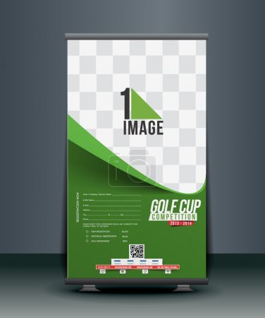 Golf Tournament Roll Up Banner