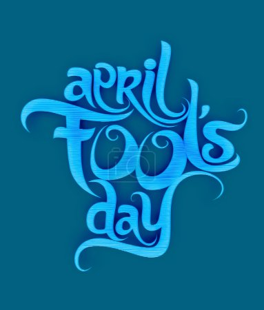 Illustration for April fools day text design element - Royalty Free Image