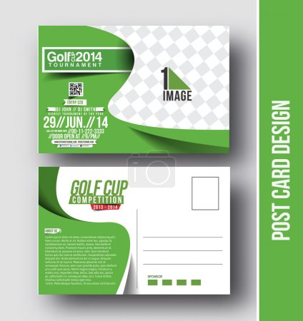 Golf cup Post Card