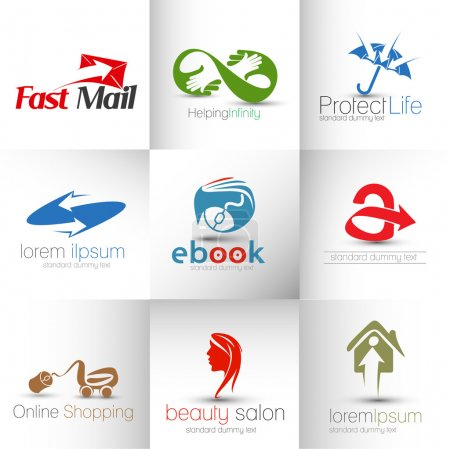 Illustration for Collection of Vector Logo Design - Royalty Free Image