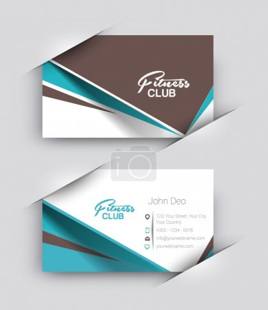 Fitness Center Business Card Set