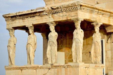 Photo for Caryatides, Erechteion, Parthenon on the Acropolis in Athens, Greece - Royalty Free Image