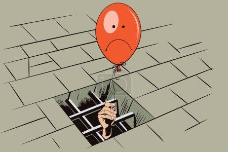 Stock illustration. Jail.