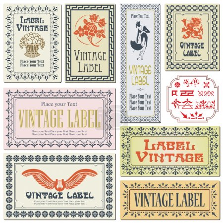 Border style labels on different versions on the basis of brushe