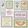 Border style labels on different versions on the basis of brushes for decoration and desig