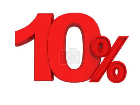panneau rouge 10 pour cent