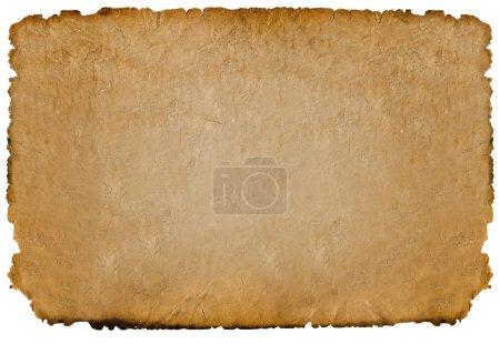 Foto de Hoja de papel viejo aislada sobre fondo blanco - Imagen libre de derechos