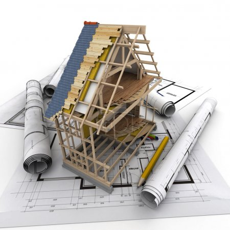 Photo for Technical details of home construction - Royalty Free Image