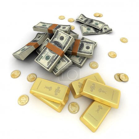 Cash and gold US