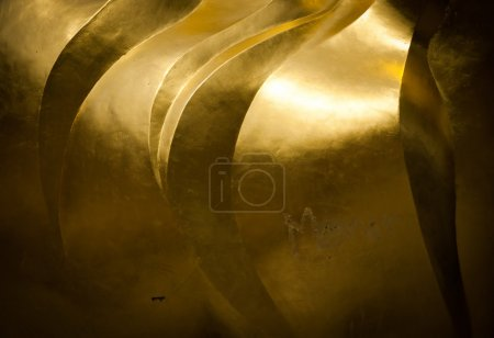Photo for Close-up shot on the golden liberty statue flame - Royalty Free Image
