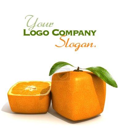 Cubic orange fruit