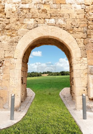 Archway leading to the fields