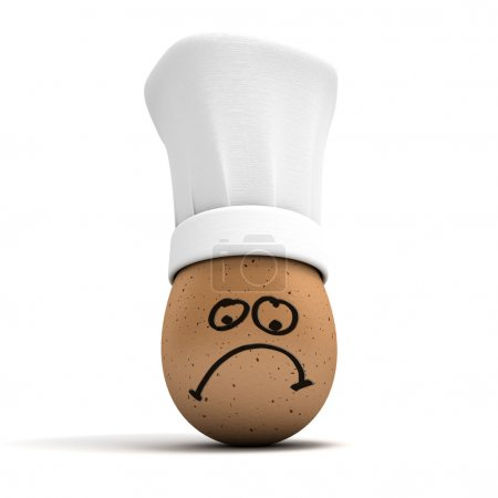 Sad gourmet egg