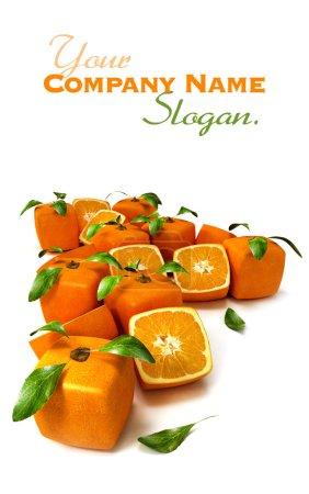 Cubic orange background