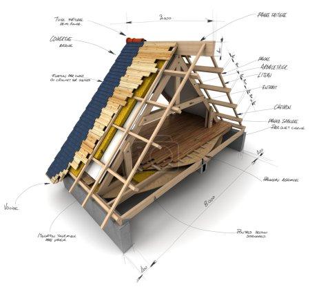 Foto de Las características técnicas del material para techos de la casa - Imagen libre de derechos