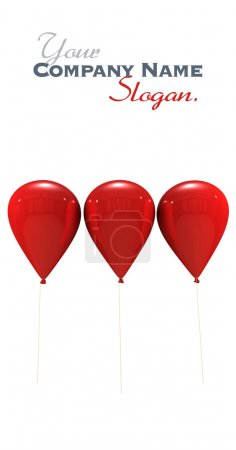 Red balloons trio