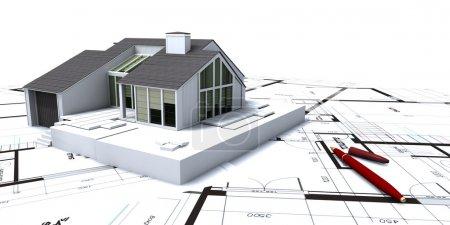 Photo pour Projet résidentiel modèle architectural - image libre de droit