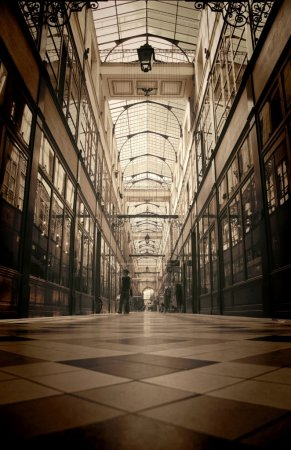 Photo for Retro looking picture of a beautiful Parisian gallery - Royalty Free Image