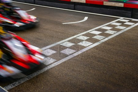 Photo for Kart crossing the finish line - Royalty Free Image