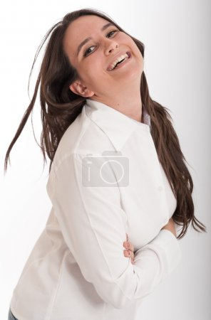 Laughing young brunette