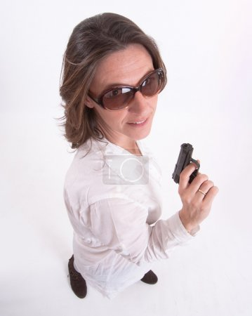 Woman and firearm