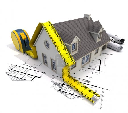 House, measure and plans