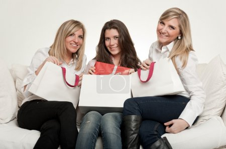 Female friends with gifts