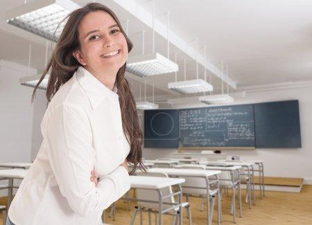 Friendly young teacher