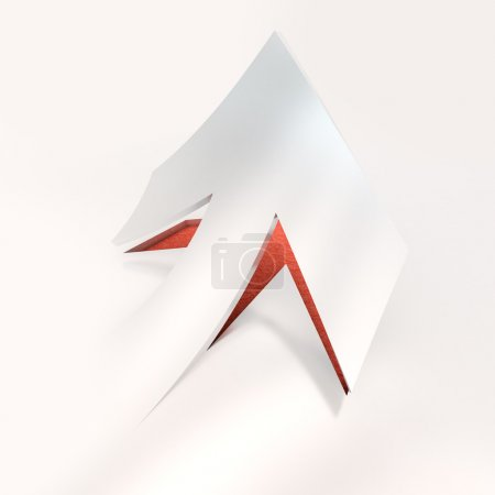 Cut out arrow red