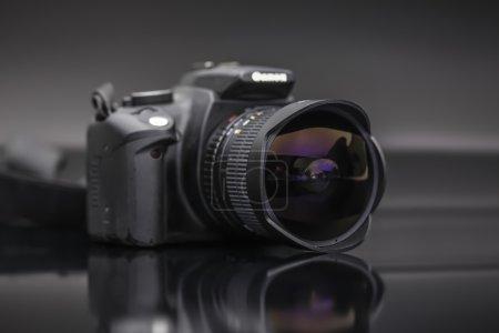 Digital camera with fish eye lens