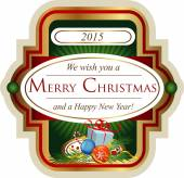 Christmas label for greeting cards banners presentations decorations Easy to edit all pieces are separated