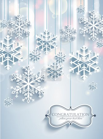 Illustration for Beautiful winter snow background for banners, backgrounds, presentations, decorations. - Royalty Free Image