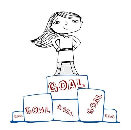 Achieve the goal, vector illustration