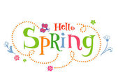Hello Spring Funky vector Background