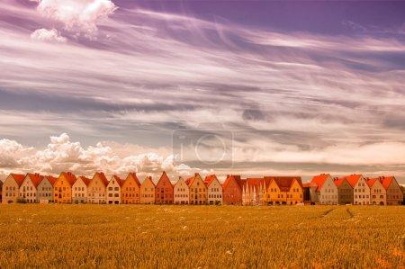 Photo pour Jakriborg est un nouveau projet de logement classique construit dans la municipalité de Staffanstorp dans la région de Skane dans le sud de la Suède . - image libre de droit