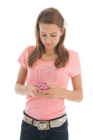Teenager with smartphone