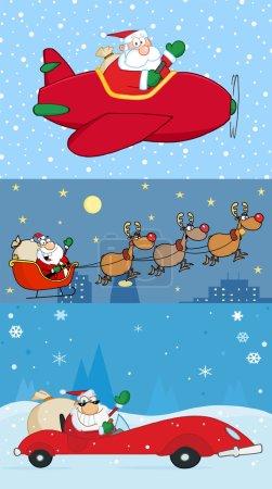 Santa Claus Transporting.