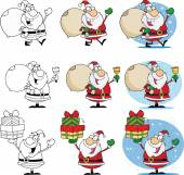 Santa Claus kreslený maskot postavy