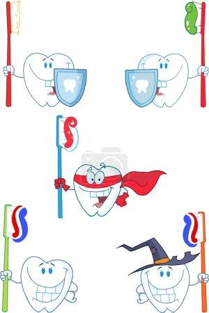 Tooth Cartoon Characters