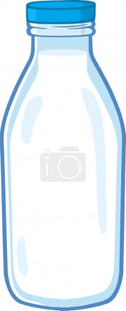 Cartoon Milk Bottle