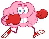 Brain Running With Boxing Gloves