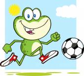 Frog    Playing With Soccer Ball
