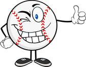 Baseball Ball Holding A Thumb Up