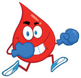Blood Drop  With Boxing Gloves