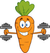 Carrot Exercising With Dumbbells